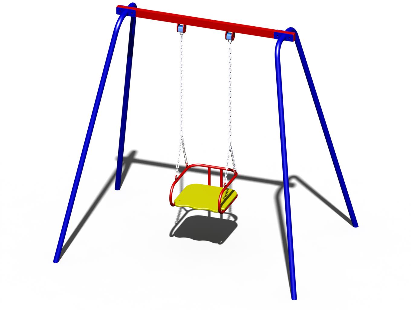 детские металлические качели